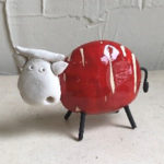 Funky 12cm small red cow