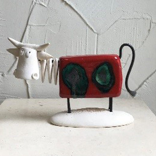 Funky 18cm red large cow