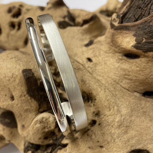 Solid sterling torque bangle
