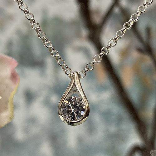 Sterling silver teardrop pendant