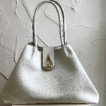 Large beige fashion shoulder bag