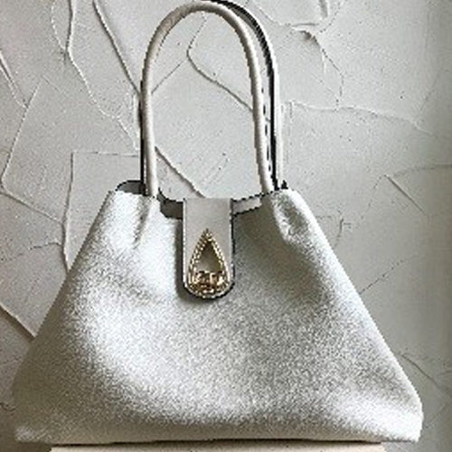 Large beige fashion shoulder bag