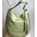 Large green fashion bag