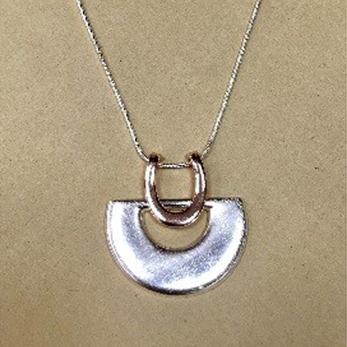 Long silver coloured costume necklace 2