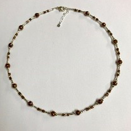 Sterling silver and EP bronze hematite necklace