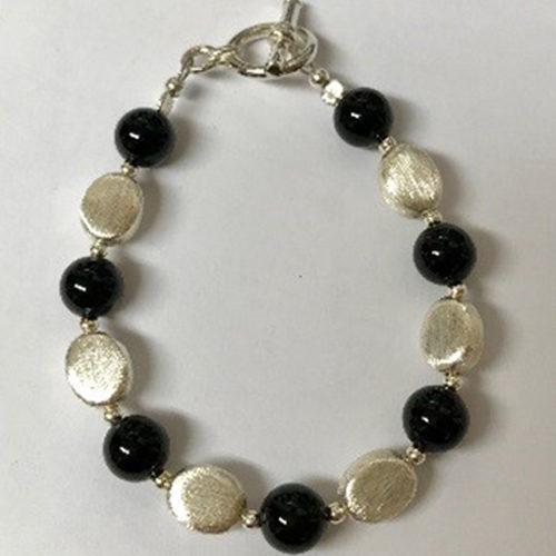 Sterling silver and black onyx bracelet 2