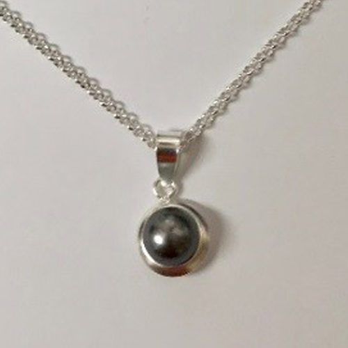 Sterling silver and freshwater pearl pendant on a silver chain