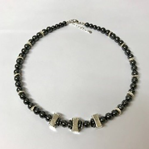 Sterling silver and hematite necklace 2