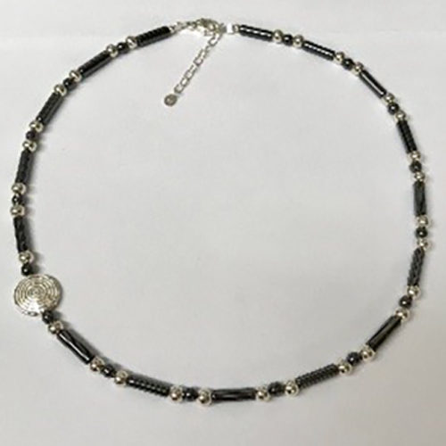 Sterling silver and hematite necklace 3