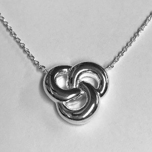 Sterling silver open Celtic design pendant on a silver chain