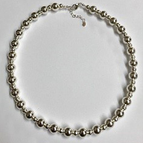 Stunning sterling silver bead necklace