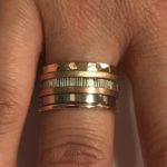 These stacking rings are a mixture of 9ct white gold and rose gold