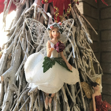 White fairy tree decoration