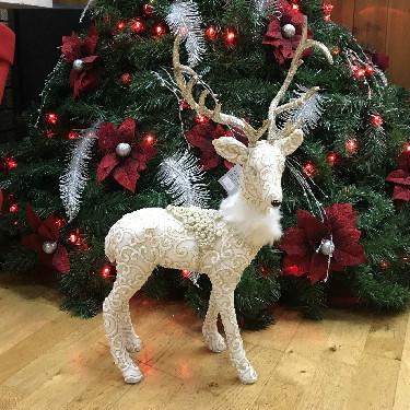 Fabric Reindeer Christmas Ornament