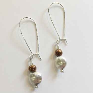 Silver hook earrings