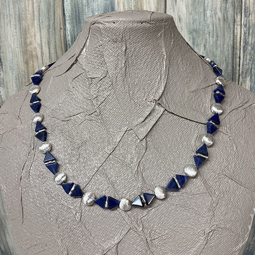 Silver and Sodalite Necklace