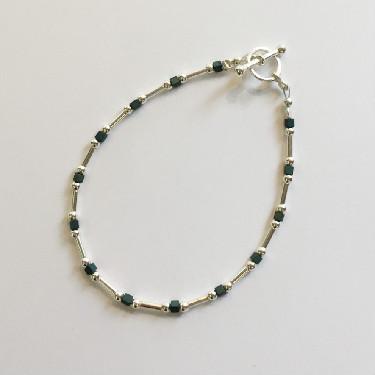 Silver and Haematite Bracelet