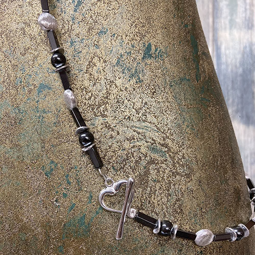 Silver and Haematite Necklace