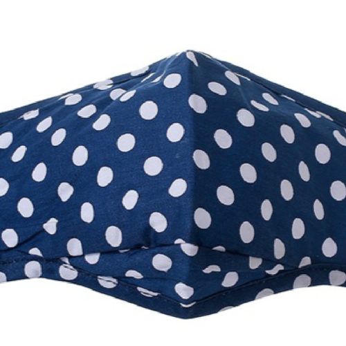 Navy with white spots