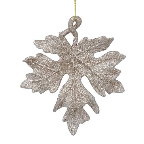 Gold glitter maple leaf tree decoration