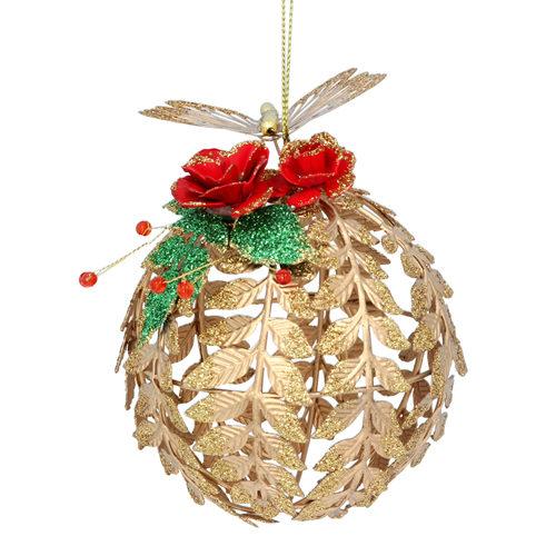 Gold leaf ball tree decoration