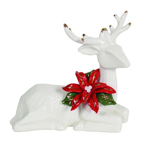 White ceramic Christmas reindeer