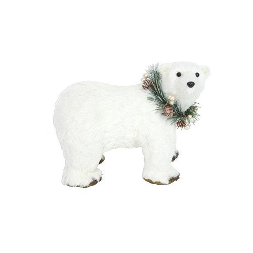 Festive white polar bear