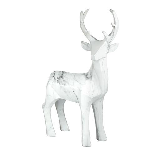 Large festive resin standing deer
