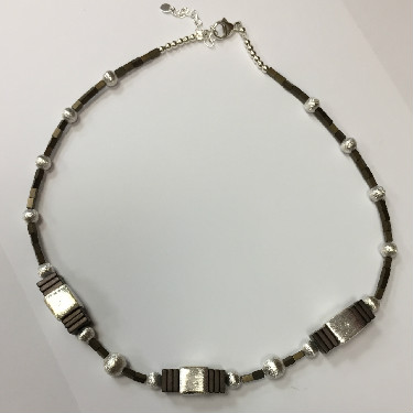 Sterling silver and Hematite necklace