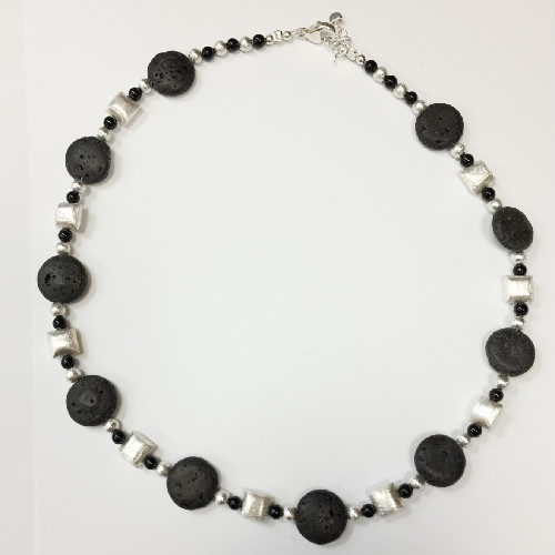 Sterling silver and Lava necklace