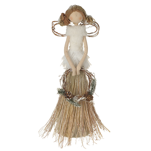 Raffia dress Christmas ornament