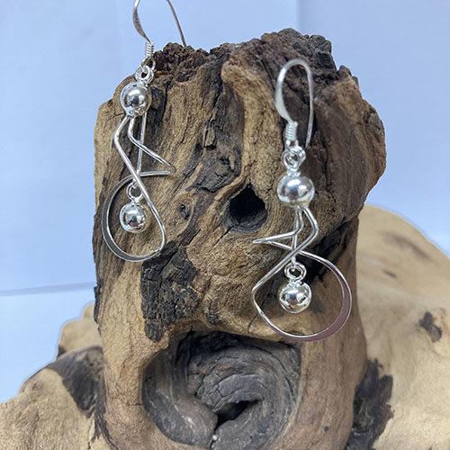 Statement sterling silver drop earrings