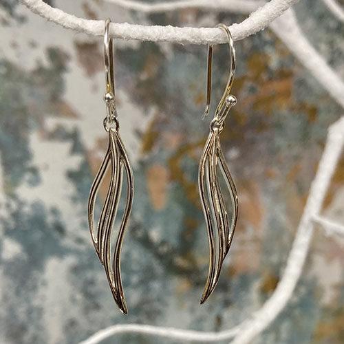 Elegant sterling silver drop earrings