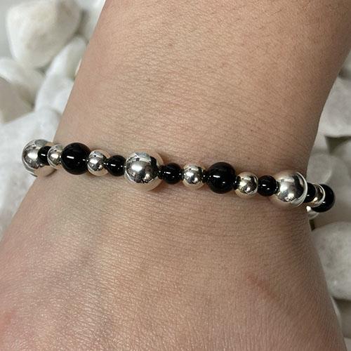Sterling silver and black Onyx bracelet