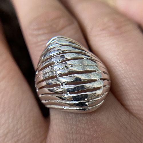 Stunning statement silver ring