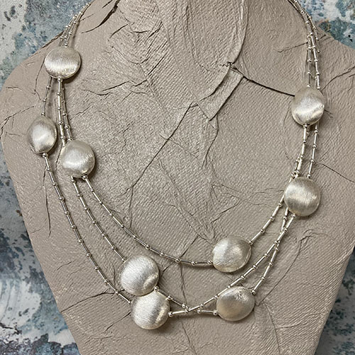 Statement sterling silver necklace