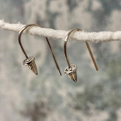 Funky sterling silver hook earrings
