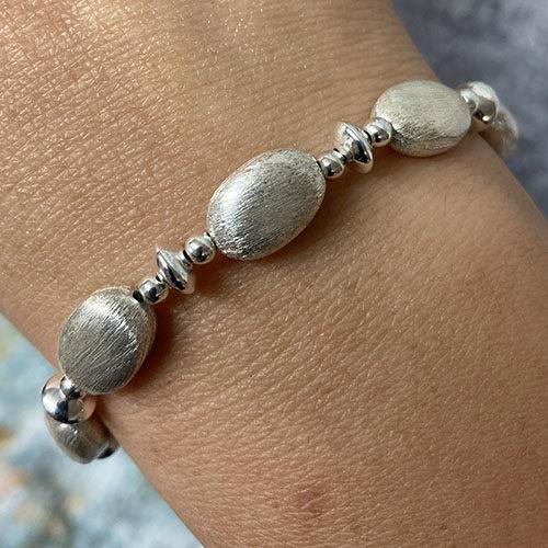Sterling scratch silver bracelet